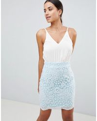 AX Paris - Lace Strappy Bodycon Dress - Lyst