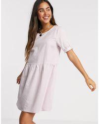 Ichi Фактурное Свободное Платье -розовый - Пурпурный