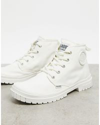 Palladium Белые Парусиновые Ботинки -белый