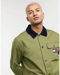 Tommy Hilfiger Куртка Оливково-зеленого Цвета В Утилитарном Стиле С Нашивкой Флага -зеленый Цвет