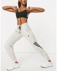adidas Originals Adidas Training 3 Stripe Oversized joggers - Grey
