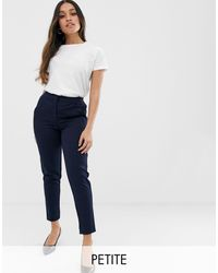 Y.A.S Petite Tailored Trouser With Elasticated Waist - Blue