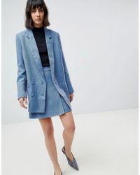 Gestuz - Prisilla Mini Skirt In Houndstooth Check - Lyst