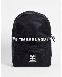Timberland Mochila negra con logo strip - Negro