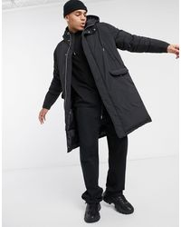 ASOS Puffer Parka Jacket - Black