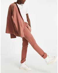ASOS – Weiche, schmal geschnittene Anzughose - Mehrfarbig