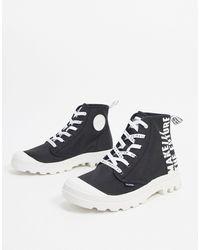 Palladium Черные Ботинки С Надписями -черный