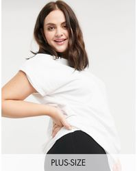 Simply Be - Белая Oversized-футболка -белый - Lyst