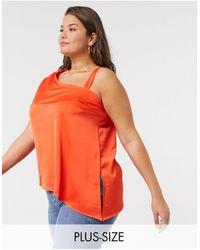 Simply Be Asymmetric Top - Orange