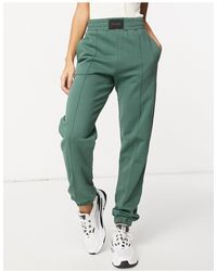 ASOS jogger With Tab Detail Waist And Pintuck - Green
