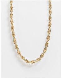 River Island Золотистое Перекрученное Ожерелье -золотой - Металлик
