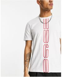 HUGO Белая Футболка С Вертикальным Логотипом Darlon203-белый