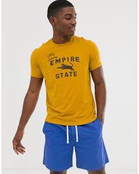 J.Crew Mercantile Empire State Print T-shirt - Yellow