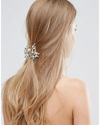 LoveRocks London - Leaf & Pearl Hair Clip - Lyst