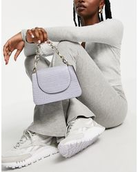 Call It Spring By Aldo So Fetch Chain Detail Cross Body Bag - Purple