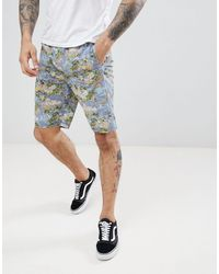 D-Struct Printed Summer Two-piece Shorts - Blue