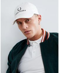 Fred Perry White Cotton Hat