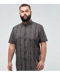 ASOS - Design Plus Regular Fit Vintage Print Shirt - Lyst