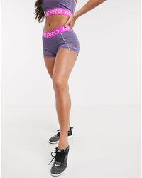 Nike - Розовые Меланжевые Шорты Длиной 3 Дюйма Pro-розовый - Lyst