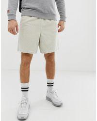 ASOS - Slim Shorts In Beige Cord - Lyst