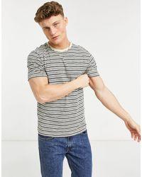 SELECTED Patrick Stripe O-neck T-shirt - White