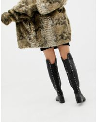 ALDO - Jereicia Stud Leather Over The Knee Boots - Lyst