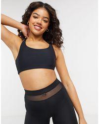 Onzie Chic Medium Support Yoga Sports Bra - Black