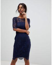 Sugarhill Lace Shift Dress - Blue