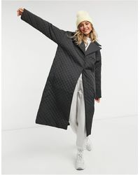 ASOS Quilted Chuck On Coat - Green