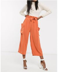 Urban Bliss Lara - Pantalon cargo coupe large - Orange