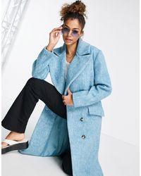 TOPSHOP Strong Shoulder Coat - Blue