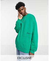 Reclaimed (vintage) Inspired - Sweat-shirt à empiècements - foncé - Vert
