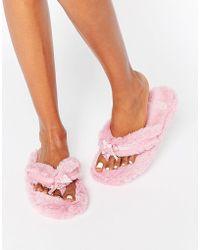 Bedroom Athletics Erica Spa Thong Slipper - Pink