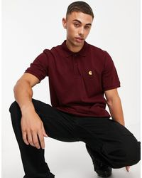 Carhartt WIP Chase Pique Polo Shirt - Red