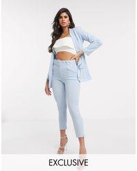 Boohoo Exclusivité - Pantalon ajusté (ensemble) - pâle - Bleu