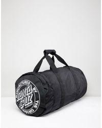Santa Cruz Stripe Stack Duffle Bag In Black