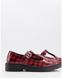 ASOS Maisie Chunky Mary-jane Flat Shoes - Red