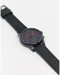 HUGO Часы С Черным Кожаным Ремешком 1530149-черный