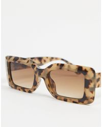 ASOS - Occhiali da sole con montatura semi quadrata smussata - Lyst