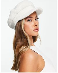 ASOS Borg Baker Boy Hat With Size Adjuster - Multicolour