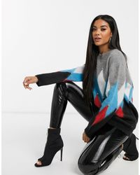 Replay Oversized Agile Knit With Studs And Brushed Finish - Blue