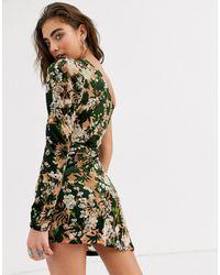 ebonie n ivory One Sleeve Mini Dress - Multicolor
