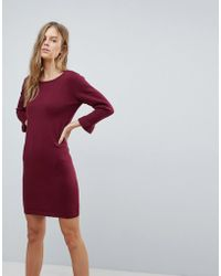 Vila - Jumper Dress With Fluted Sleeve - Lyst