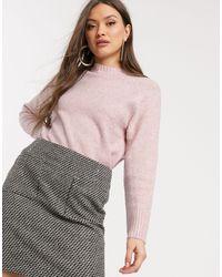 Warehouse Crew Neck Sweater - Pink