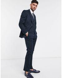 French Connection Pantaloni da abito slim - Blu