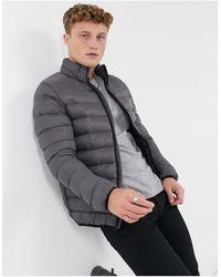French Connection Утепленная Куртка Темно-серого Цвета -серый