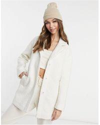 Pimkie Teddy Coat - White