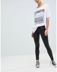 French Connection - Sateen Zip Skinny Pants - Lyst