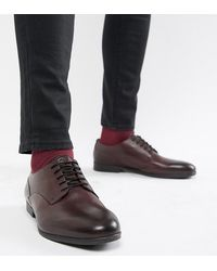 H by Hudson Wide Fit Axminster Formal Shoes - Red