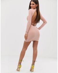 Club L London Minivestido ajustado - Rosa